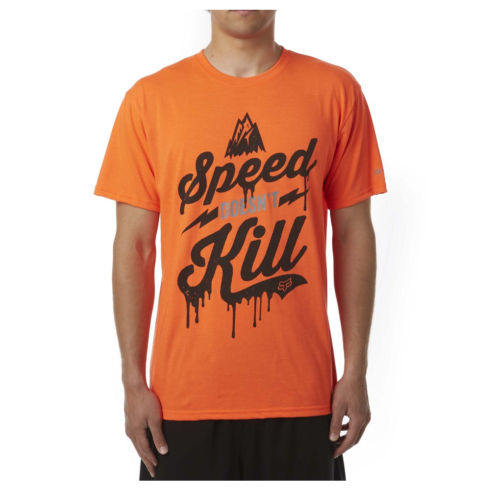 Fox Speed Wobble Tech Tee orange M