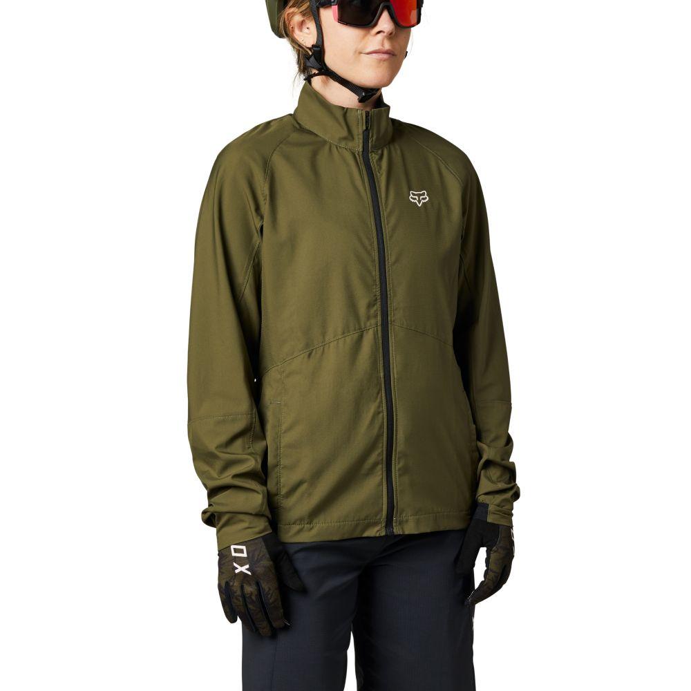 Fox Womens Ranger Wind Jacket S olive green
