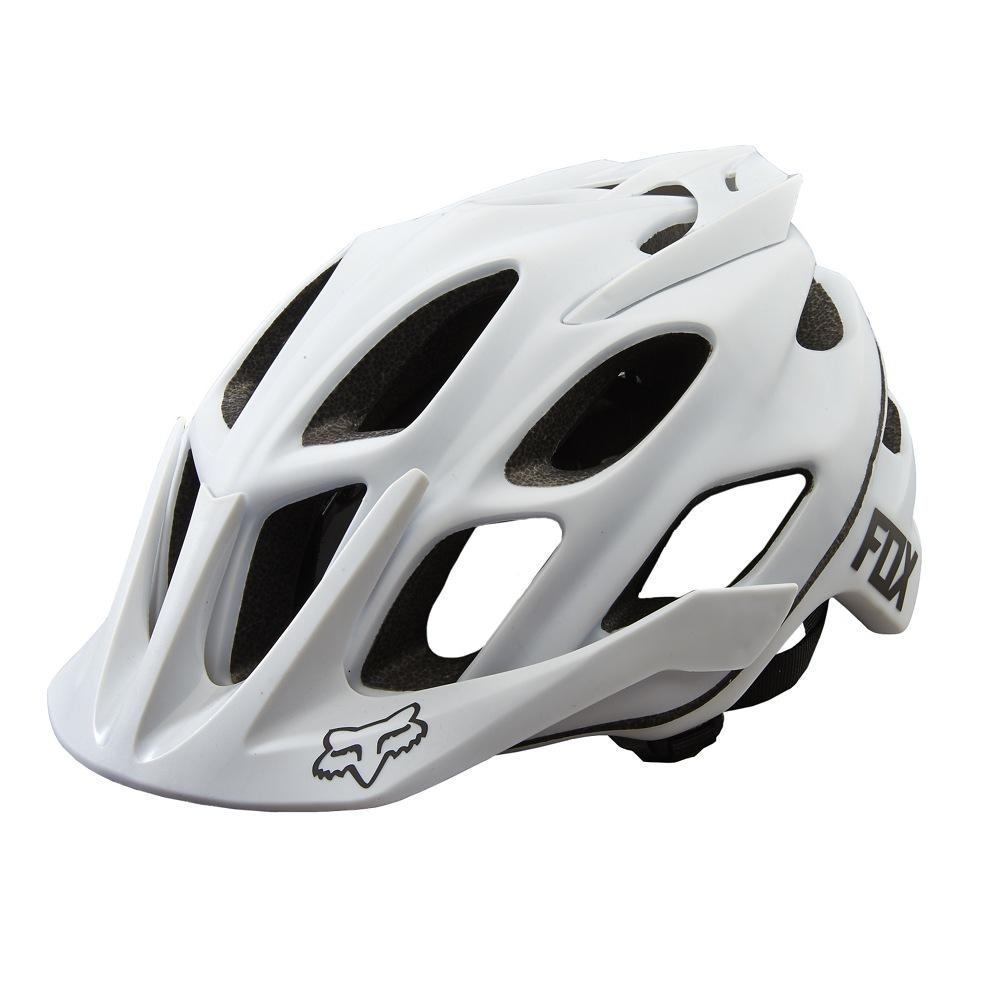 Fox Flux White Helmet matt white L/XL