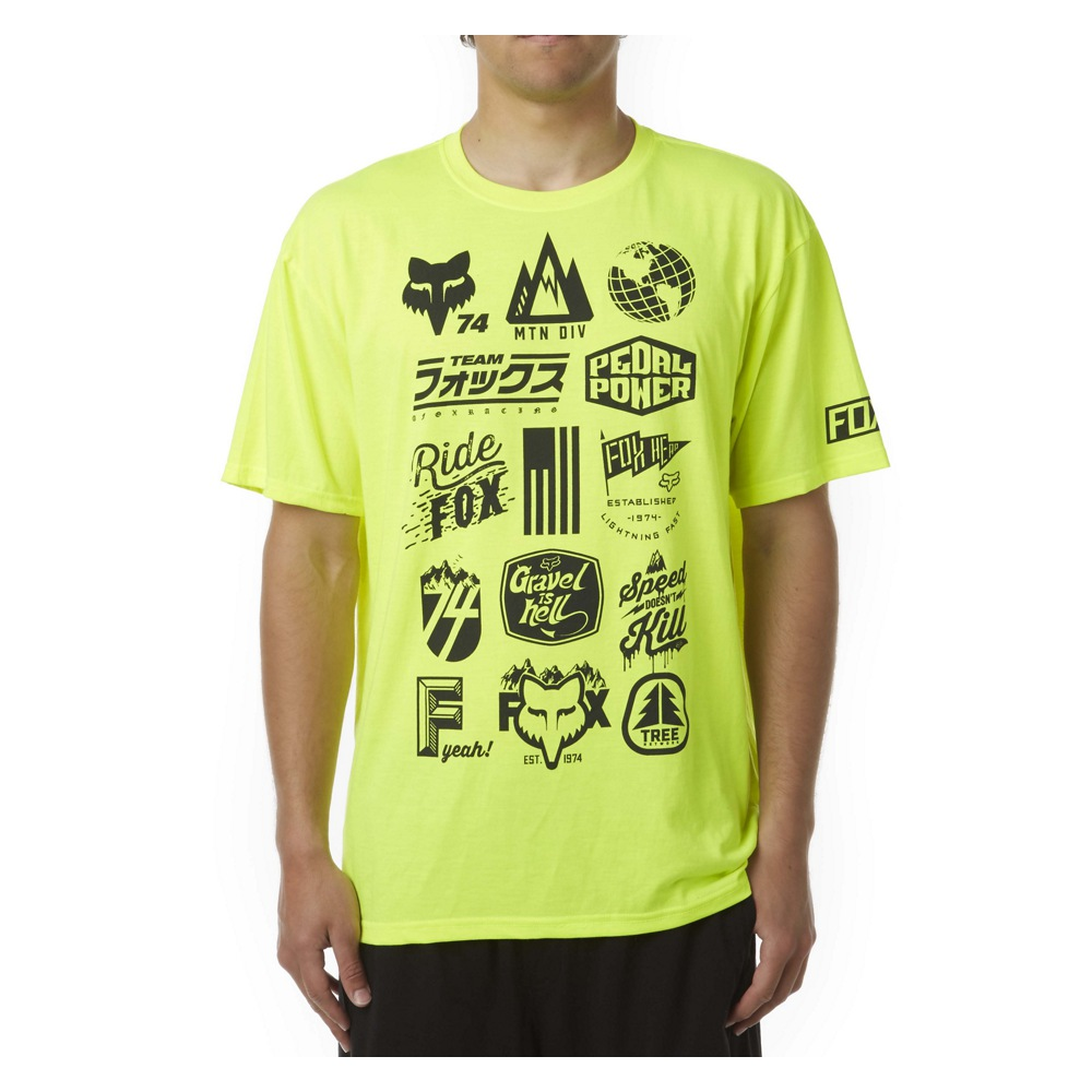 Fox Mtn Division Tech Tee L fluo yellow