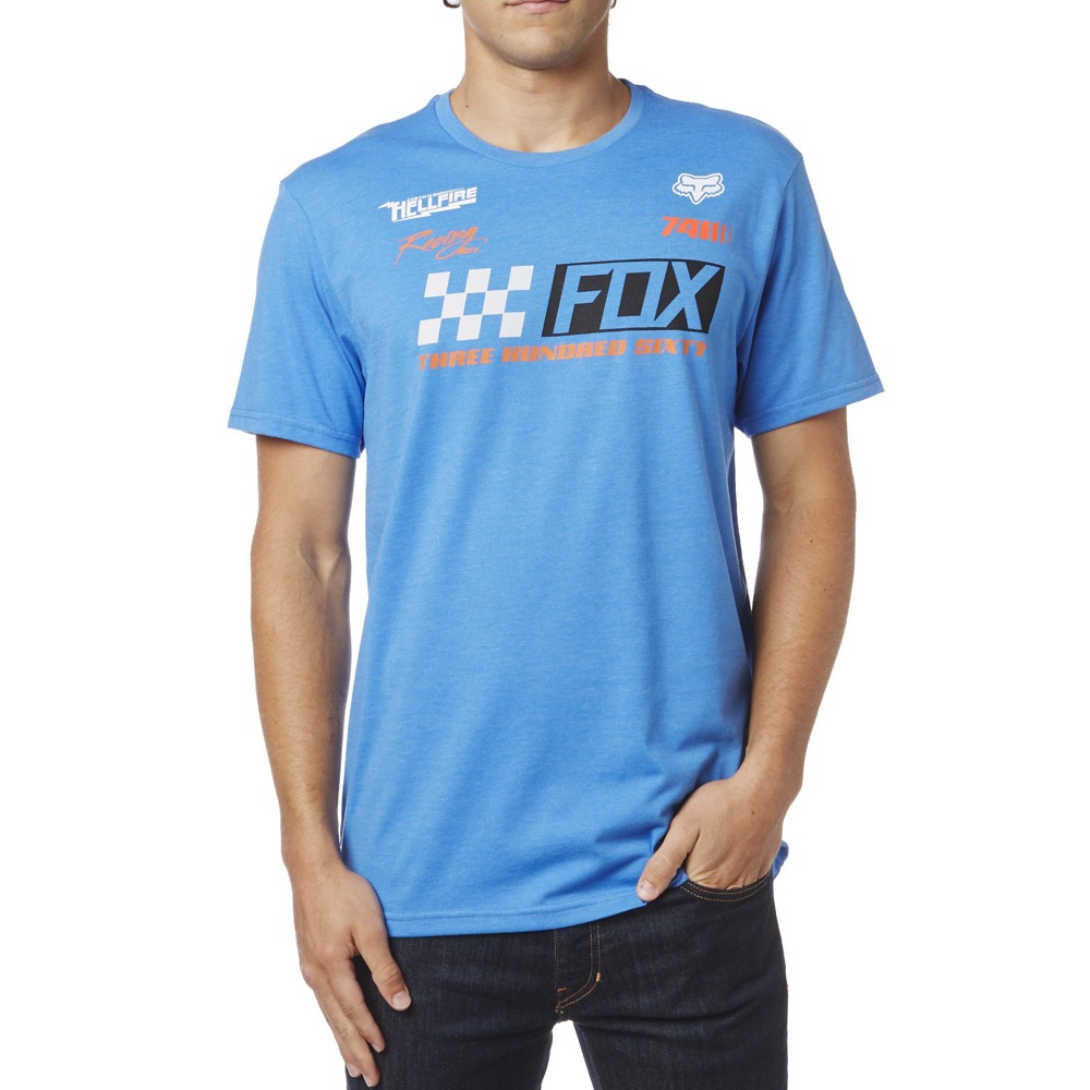 Fox Repaired Tee L heather blue