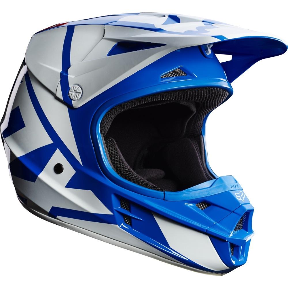 Fox V1 Race MX17 Helmet blue M