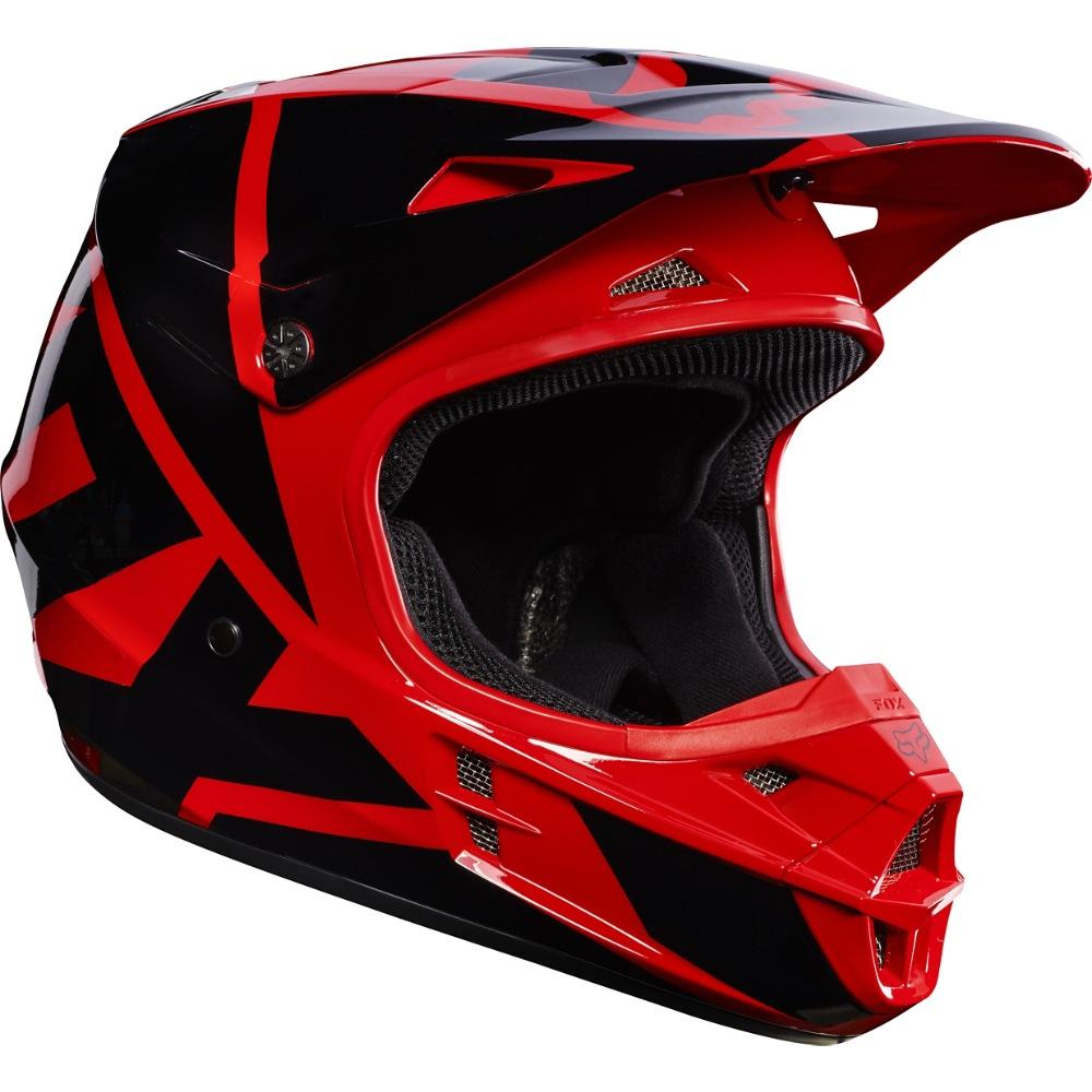 Fox V1 Race MX17 Helmet red M