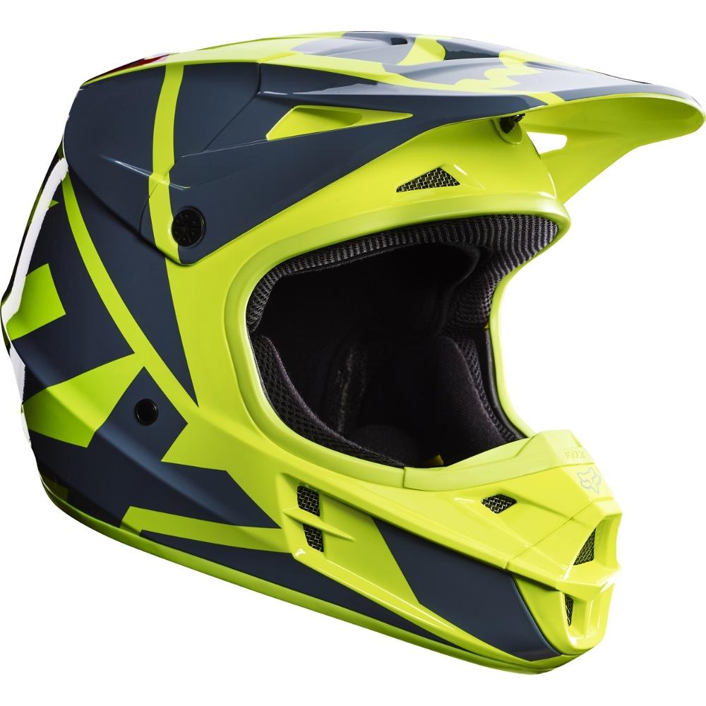 Fox V1 Race MX17 Helmet yellow M