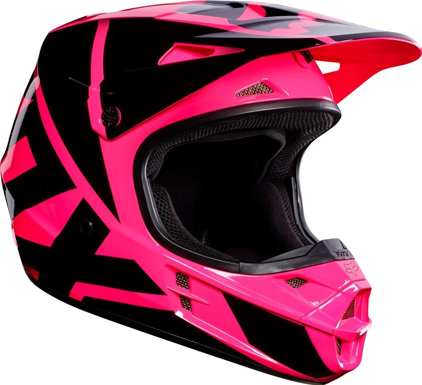 Fox V1 Race MX17 Helmet pink M