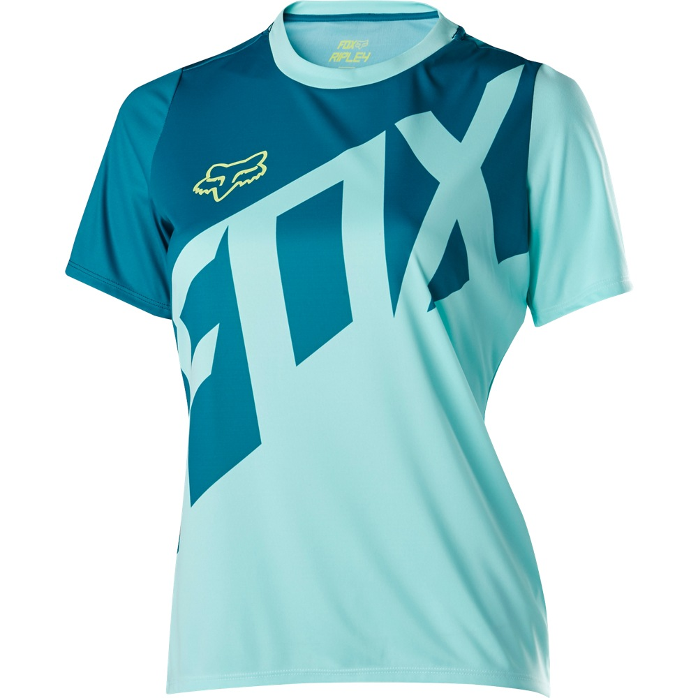 Fox Womens Ripley SS Jersey M ice blue