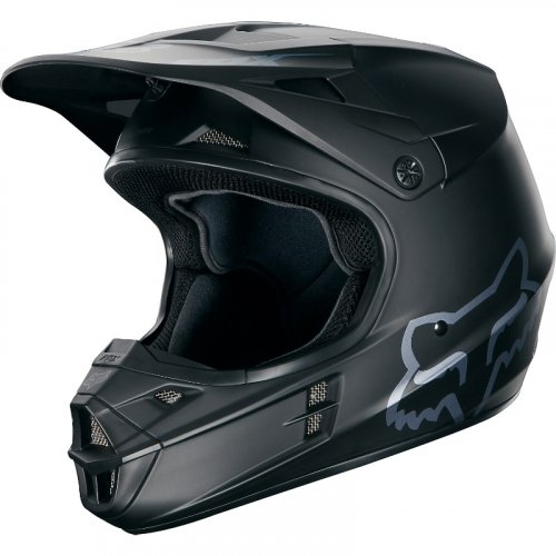 Fox V1 Matte MX18 Helmet (black)