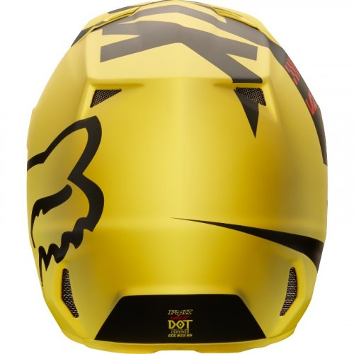 Fox V1 Mastar MX18 Helmet (yellow)