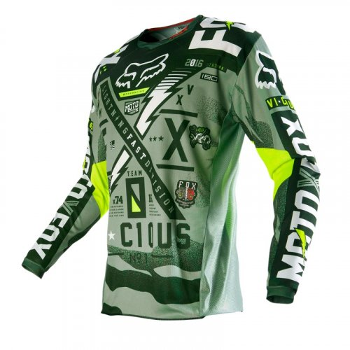 Fox 180 Vicious 16 Jersey (army)
