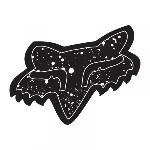 Fox Splatter Sticker